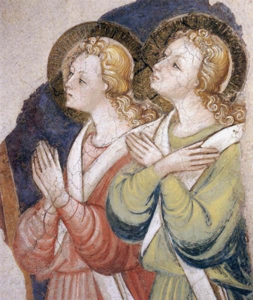 Bicci di Lorenzo: Angyalok (1447 körül;  Szent Ferenc-bazilika, Arezzo)