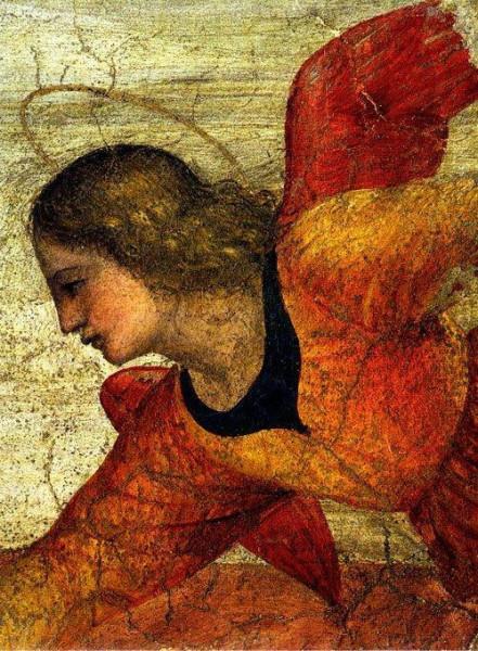 Bernardino Luini: Angyal (1520–21; Brera-képtár, Milánó)