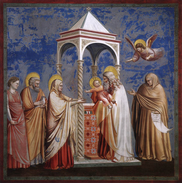 Giotto di Bondone: Krisztus bemutatása a templomban (1306)