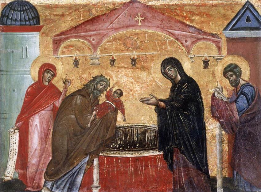 Guido da Siena: Jézus bemutatása a templomban (1270-es évek)