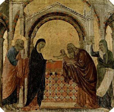 Duccio di Buoninsegna: Urunk bemutatása (1308–11)