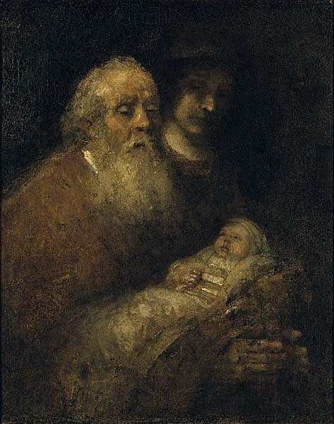 Rembrandt: Simeon hálaéneke (1669)