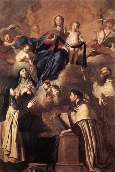 Pietro Novelli: Kármelhegyi Boldogasszony (1641)