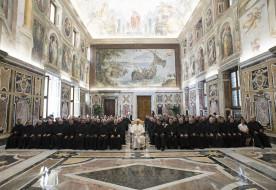 A szemlélődés iskolája vagytok – A kármeliták nagykáptalanját fogadta Ferenc pápa
