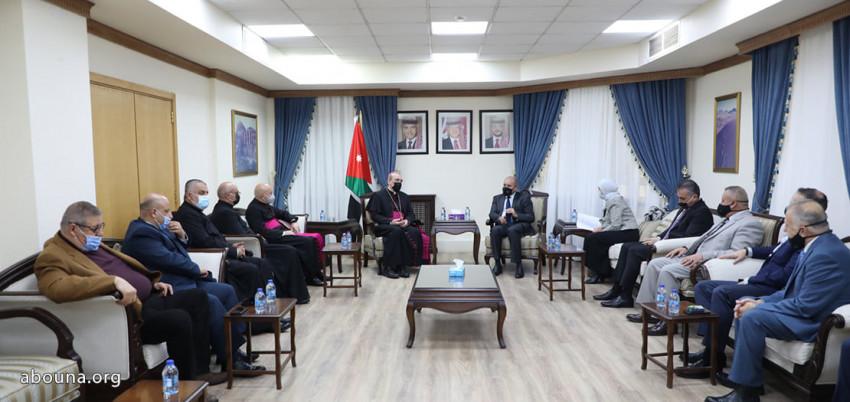 A jeruzsálemi latin pátriárka hivatalos látogatást tett Jordániában