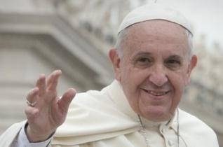 Ferenc pápa Twitter-üzenete május 28-án