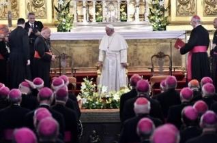 A Szentatya a lengyel püspökökkel találkozott Krakkóban