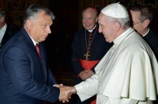 Orbán Viktor audiencián találkozott Ferenc pápával