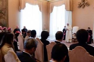 Ferenc pápa fogadta a II. János Pál Alapítvány tagjait
