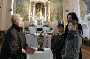 Megáldották Kapuváron a Szent Márton-vándorszobrot