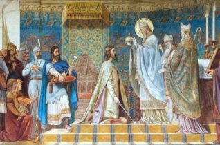 Szent Mórt ábrázoló képek a pécsi székesegyházban