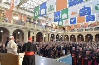 Ferenc pápa a chilei katolikus egyetemen: Gyakoroljuk a párbeszéd és a találkozás nyelvtanát!