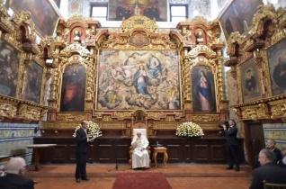 Perui jezsuitákkal találkozott Ferenc pápa a Limában