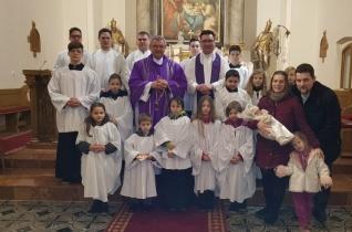 Az első főpásztori keresztelő a Győri Egyházmegyében a családok évében