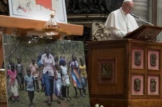 Ferenc pápa Twitter-üzenete február 25-én
