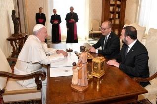 San Marino régenskapitányait fogadta Ferenc pápa