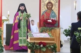 A Szentháromság ikonját is megszentelték az örökösföldi templombúcsún Nyíregyházán