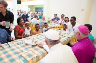 """Ferenc pápa üzenetet küldött a """"Találkozás ebédje"""" rendezvény résztvevőinek"""