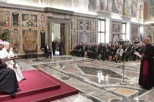 A Pápai Életvédő Akadémia tagjait fogadta Ferenc pápa
