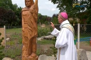 Megáldották Szent Flórián szobrát Rákóczifalván
