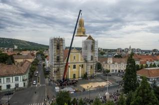 Az égből kapta vissza toronysisakját a Szent Bertalan-templom Gyöngyösön