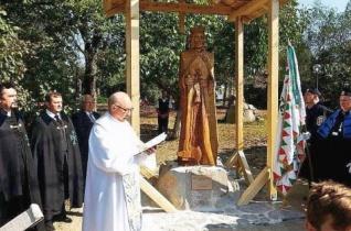 Szent László-szobrot állítottak a partiumi Szentjobbon
