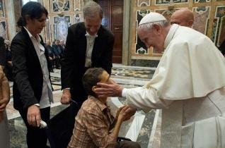 A munkahelyi balesetek miatt leszázalékoltak olaszországi szövetségét fogadta a pápa