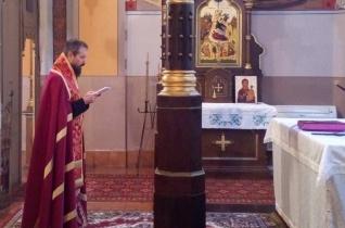 Milan Lach püspök a miskolci székesegyházban