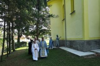 Búcsút ünnepeltek a felújított abaújlaki görögkatolikus templomban