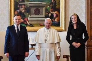 Ferenc pápa fogadta Andrzej Duda lengyel államfőt