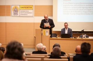 """""""Fedezzük fel a hit terapeutikus jellegét"""" – Tomáš Halík vallásfilozófus előadása a Sapientián"""
