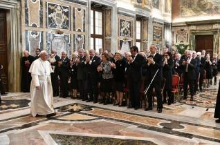 A Jeruzsálemi Szent Sír Lovagrend közgyűlése a pápánál