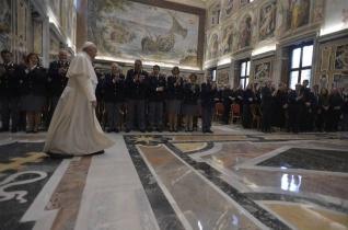 Ferenc pápa fogadta a Vatikánvárosban szolgálatot teljesítő rendőröket