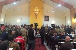 Templomot szenteltek az olasz katonai bázison Libanonban