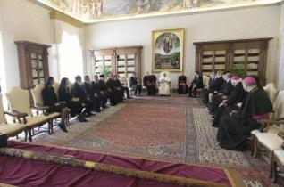A pápa cseh és szlovák politikusokat fogadott