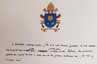 Holnap lesz Loretóban nyílvános, de most meglesheted a pápa fiataloknak szóló levelének kezdő sorait
