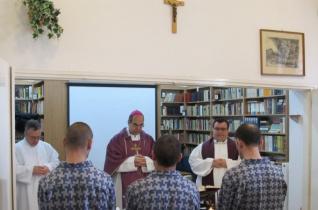 Püspöki szentmise a zalaegerszegi büntetés-végrehajtási intézetben